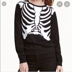 H&M Skeleton Pullover Sweater